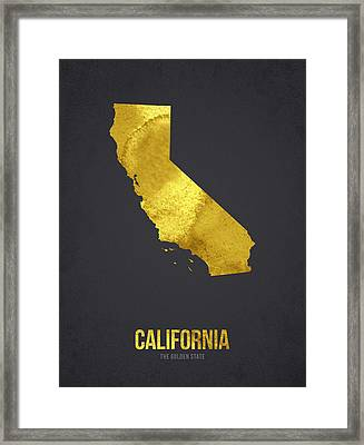 California The Golden State Framed Print by Aged Pixel