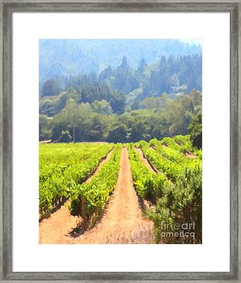 California Vineyard Wine Country 5d24518 Vertical Framed Print by Wingsdomain Art and Photography