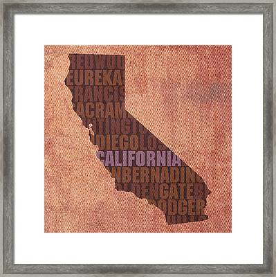 California Word Art State Map On Canvas Framed Print by Design Turnpike