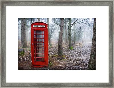 Call Me If You Need Me Framed Print by Jordan Browning