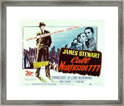 Call Northside 777, Us Lobbycard, James Framed Print by Everett