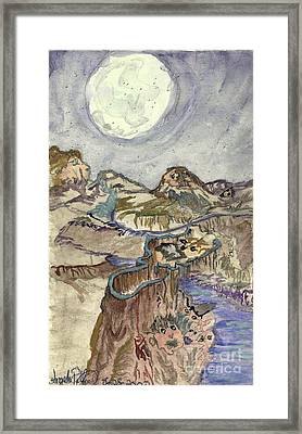 Call Of The Night Framed Print by Angela Pelfrey