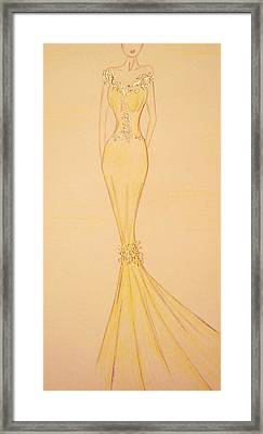 Calla Lily Gown Framed Print by Christine Corretti