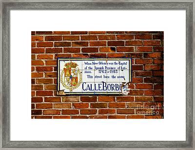 Calle Borbo Framed Print by Susie Hoffpauir