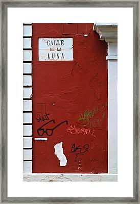 Calle De La Luna Framed Print by Ricardo J Ruiz de Porras