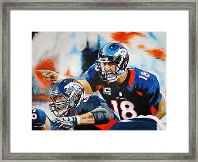 Peyton Manning Framed Print by Don Medina