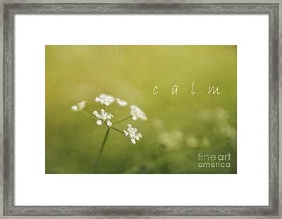 Calm Framed Print by Elena Nosyreva