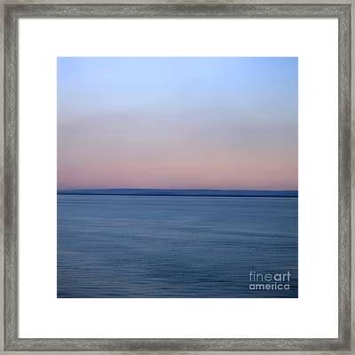 Calm Sea Framed Print by Bernard Jaubert
