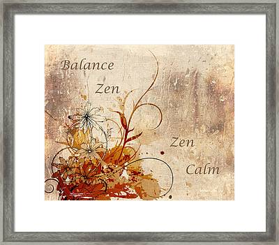 Calming Zen Framed Print by Georgiana Romanovna