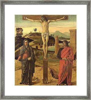 Calvary Framed Print by Giovanni Bellini