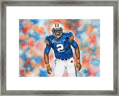 Cam Newton - Uga Framed Print by Lance Curry