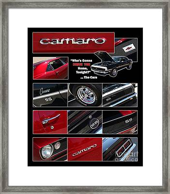 Camaro-drive - Poster Framed Print by Gary Gingrich Galleries