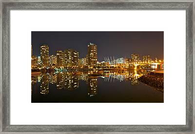 Cambie Bridge Framed Print by Peter Boyer