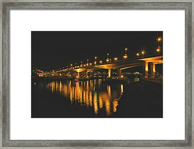 Cambie Street Bridge Framed Print by Brian Chase