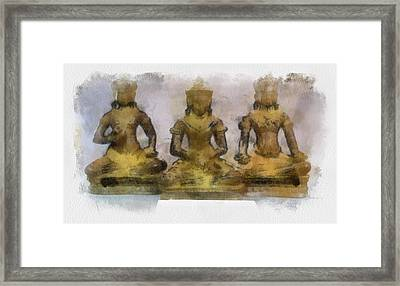 Cambodia Antique Temple Framed Print by Teara Na