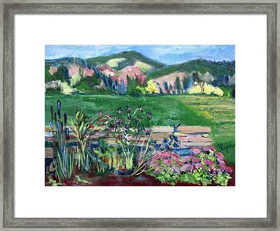 Cambridge Countryside Framed Print by Betty Pieper