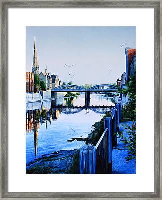 Cambridge Summer Morning Framed Print by Hanne Lore Koehler