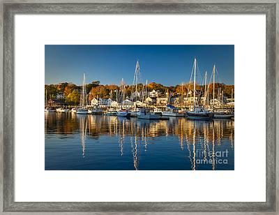 Camden Harbor Framed Print by Brian Jannsen