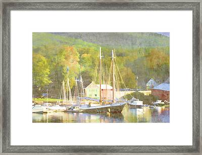 Camden Harbor Maine Framed Print by Carol Leigh