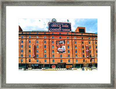 Camden Yards Framed Print by Bill Cannon