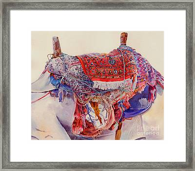 Camel Saddle Framed Print by Dorothy Boyer