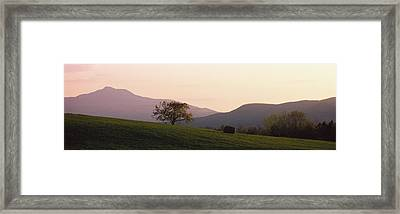 Camels Hump Waterbury Vt Framed Print by Panoramic Images