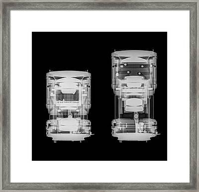 Camera Lens Under X-ray. Framed Print by Photostock-israel