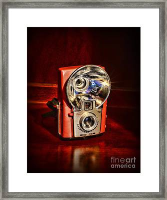 Camera - Vintage Brownie Starflash Framed Print by Paul Ward