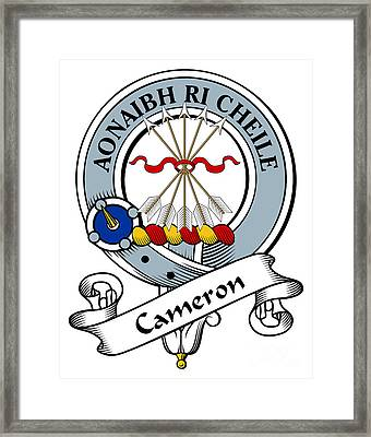 Cameron Clan Badge Framed Print by Heraldry