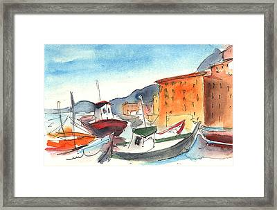 Camogli In Italy 02 Framed Print by Miki De Goodaboom