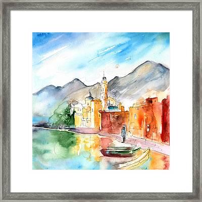 Camogli In Italy 11 Framed Print by Miki De Goodaboom