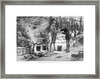 Camp Christmas, 1885 Framed Print by Granger