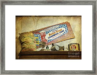 Camp Verde Texas General Store Framed Print by Priscilla Burgers