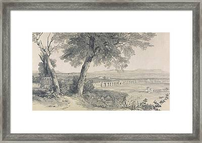 Campagna Of Rome From Villa Mattei Framed Print by Edward Lear