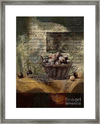 Campagnard - Rustic Still Life - S02sp Framed Print by Variance Collections