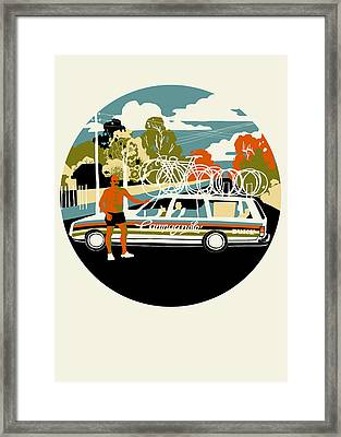 Campagnolo Team Car Framed Print by Eliza Southwood