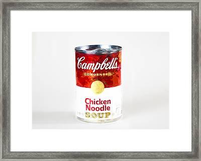 Campbells Chicken Noodle Soup Framed Print by Vivian Frerichs