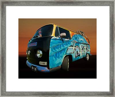 Camper Van Paint Job Framed Print by Pete Hemington