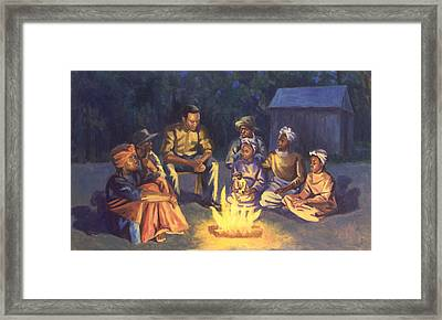 Campfire Stories Framed Print by Colin Bootman