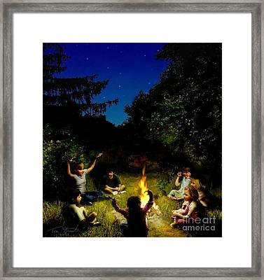 Campfire Story Framed Print by Tom Straub