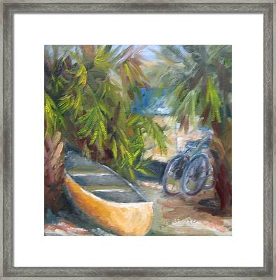 Campground Framed Print by Susan Richardson