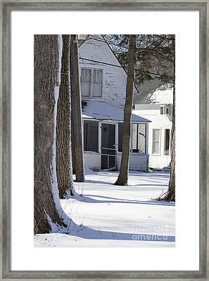 Campgrounds One Framed Print by Sara Schroeder