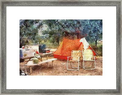 Camping Photo Art Framed Print by Thomas Woolworth