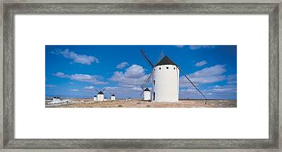 Campo De Criptana La Mancha Spain Framed Print by Panoramic Images
