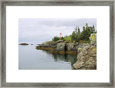 Campobello Island -  East Quoddy Lightstation Framed Print by Christiane Schulze Art And Photography