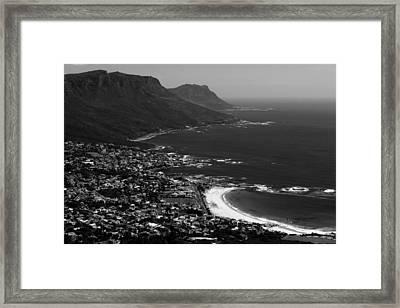 Camps Bay Cape Town Framed Print by Aidan Moran