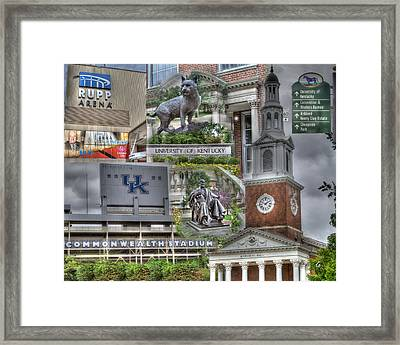 Campus Life University Of Kentucky Framed Print by Gina Munger