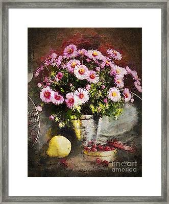 Can Of Raspberries Framed Print by Mo T