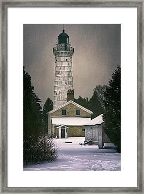Cana Island Light II Framed Print by Joan Carroll