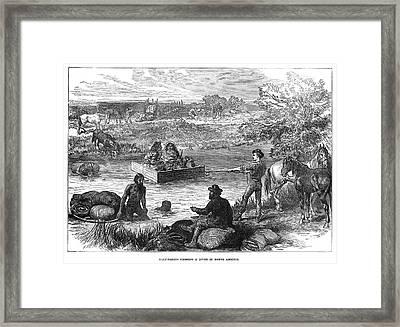 Canada River Crossing Framed Print by Granger